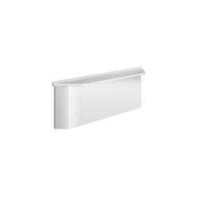 Tablette de douche - fixation murale - cache fixation -Be line blanche DELABIE