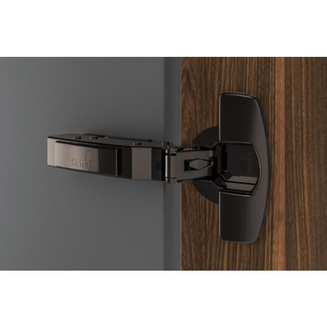 Charnière invisible à enfoncer Push to open 110° Sensys 8675-Obsidien HETTICH