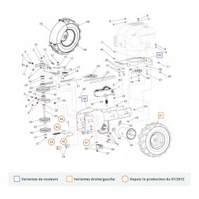 Pièces détachées pour cellule motrice P55 - éclaté n°1 EUROSYSTEMS