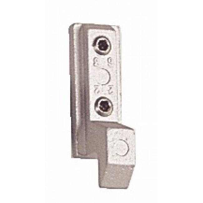 Gâche 2263 pour fermetures encastrées série 6790 pour coulissant aluminium LA CROISÉE DS