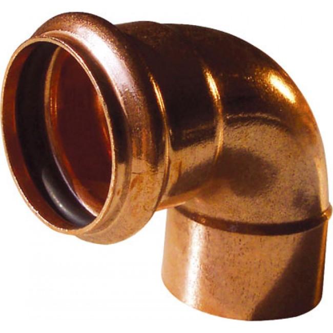 Coude cuivre 90° mâle à souder / femelle à joint torique BRICOZOR