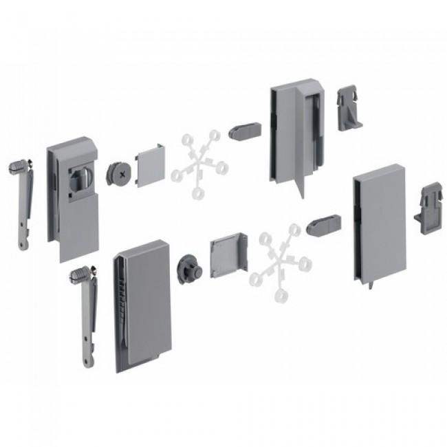 Kit tiroir InnoTech avec adaptateurs DesignSide-H144mm-argent