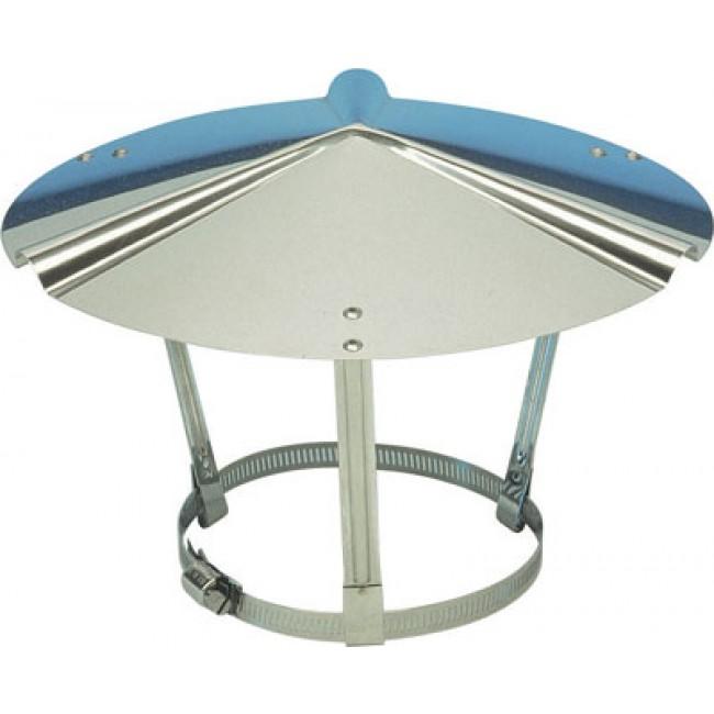 chapeau chinois inox pour tubage flexible ten bricozor. Black Bedroom Furniture Sets. Home Design Ideas