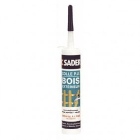 Colle à bois extérieur en gel - 310 ml SADER