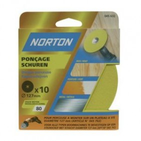 10 disques corindon 150x12mm grain 50 NORTON