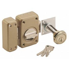 Verrou en applique de sûreté - à bouton - cylindre extensible - V 136 VACHETTE