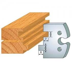 2 fers profilés acier - hauteur 50 mm N°202 - rainure-languette 8 mm LEMAN