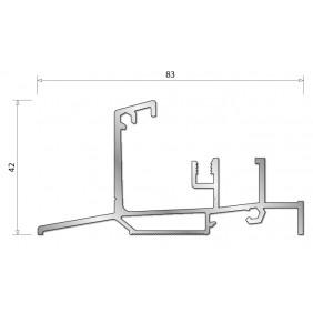 Seuil en aluminium ISOL 47T pour porte-fenêtre bois BILCOCQ