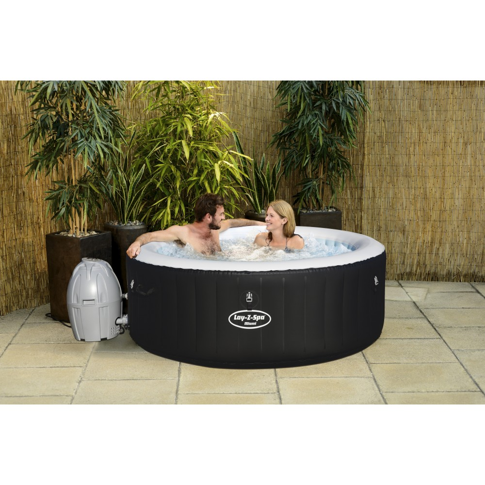 spa gonflable 2/4 places - lay-z-spa rond - miami air jet +