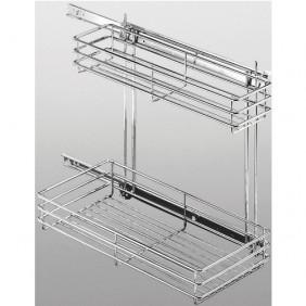 panier coulissant cuisine panier tiroir coulissant bricozor. Black Bedroom Furniture Sets. Home Design Ideas