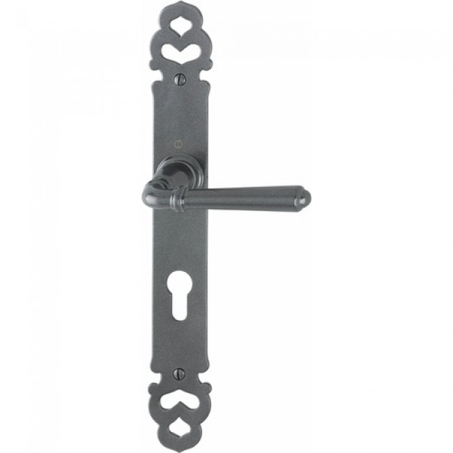 Poignées de porte aluminium gris métal - Elba HOPPE