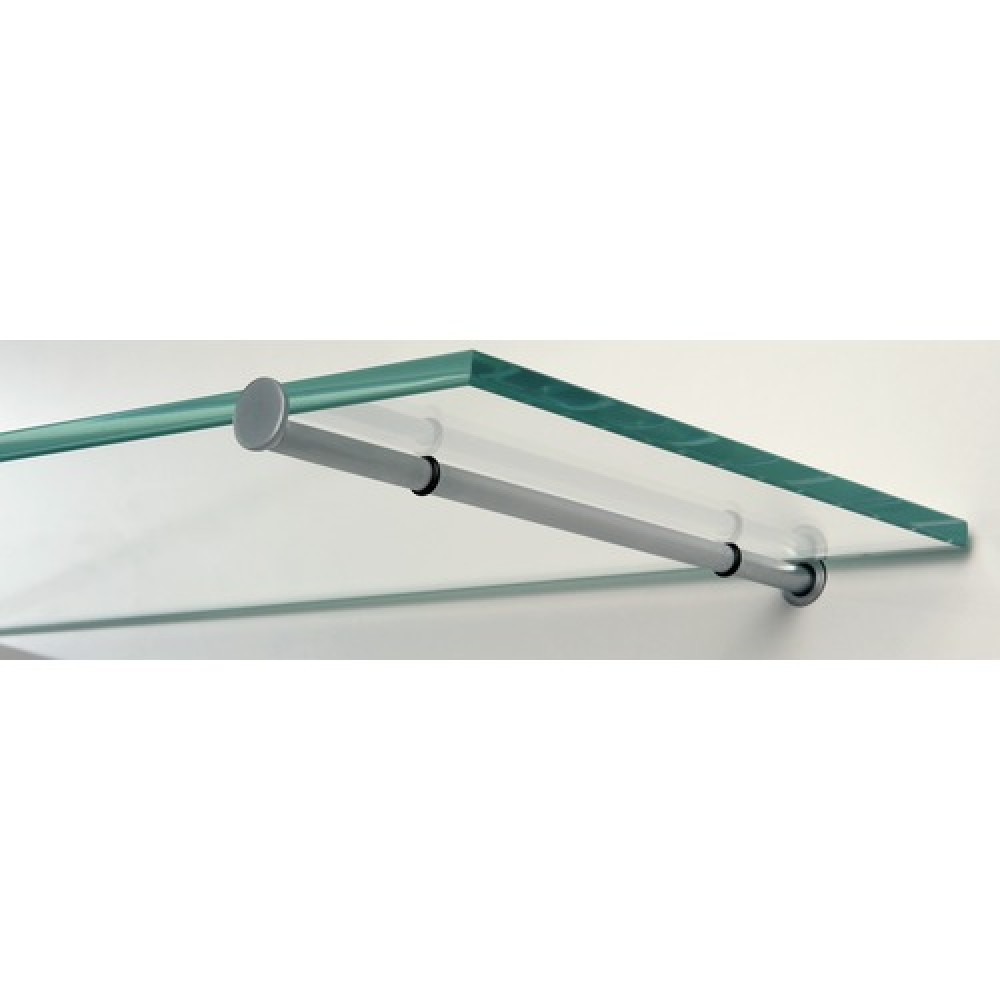 Support tablette verre dot sofadi bricozor for Tablette verre salle de bain