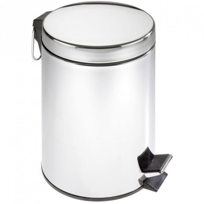 Poubelle à pédale classique pour salle de bain en acier inox 5 litres WENKO