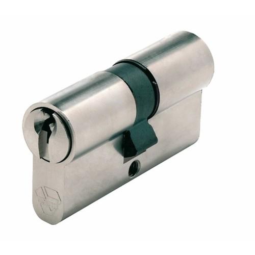 Cylindre double V5 7101 s'entrouvrant sur variure UA 1001, laiton nickelé