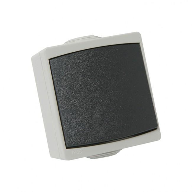 Bouton poussoir étanche IP65 complet - gris - Perle DEBFLEX