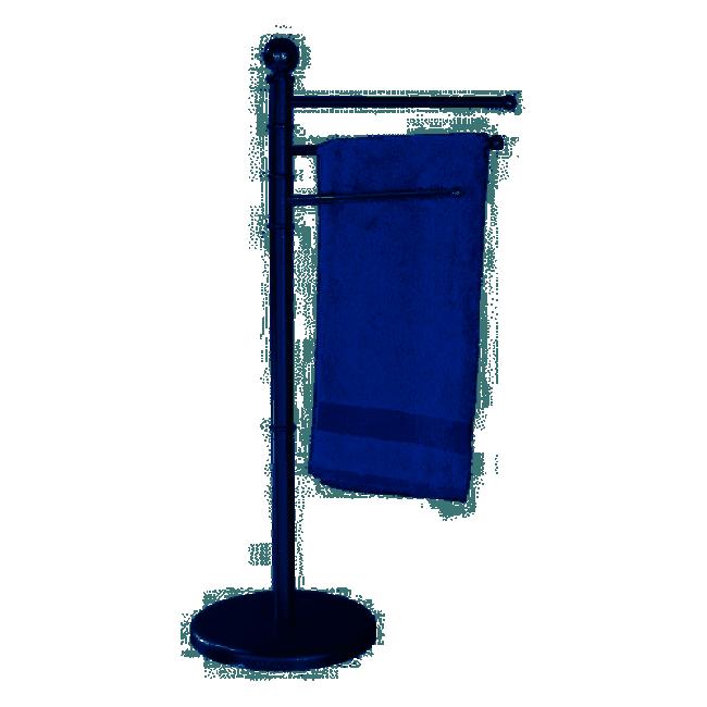 Porte-serviettes exclusif - à poser - Chrome Satiné - 3 bras WENKO