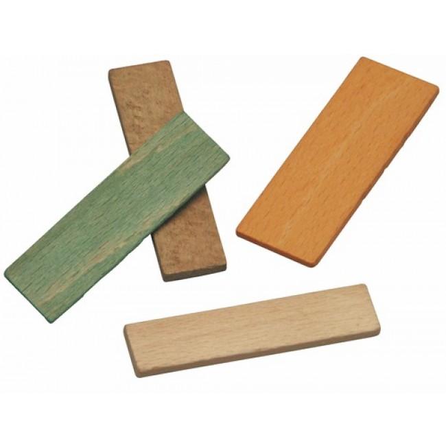 Cales de vitrage en bois - longueur 70 mm - largeur 25 mm GOETTGENS SA