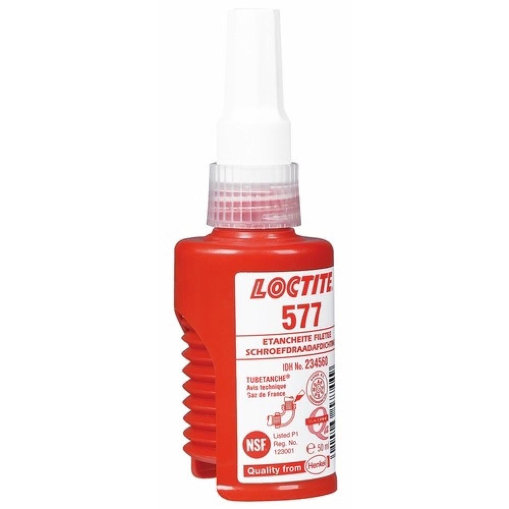 P te d tanch it loctite 577 gaz et liquides flacon 50 for Pate a joint plomberie