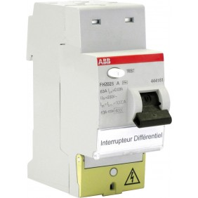 Interrupteur différentiel - FH202S - 63 A - Type A ABB