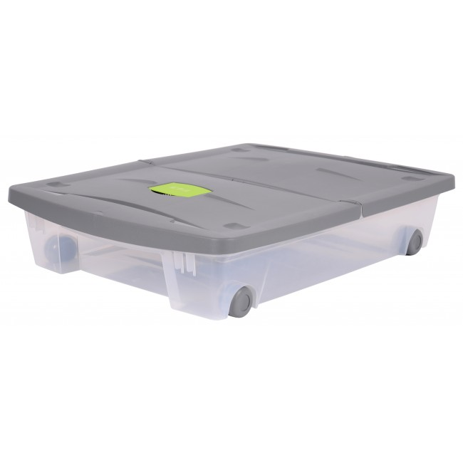 Boite rangement sous lit avec roulette - 50 litres EDA PLASTIQUES