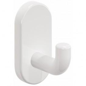 Patère simple - nylon - blanche - pour salle de bain NORMBAU