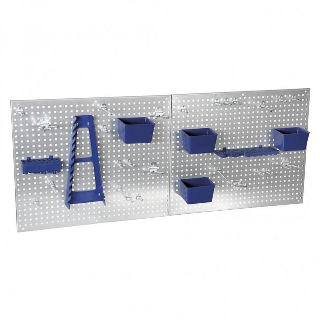 Panneaux perforés avec accessoires 34 pièces TURBOCAR