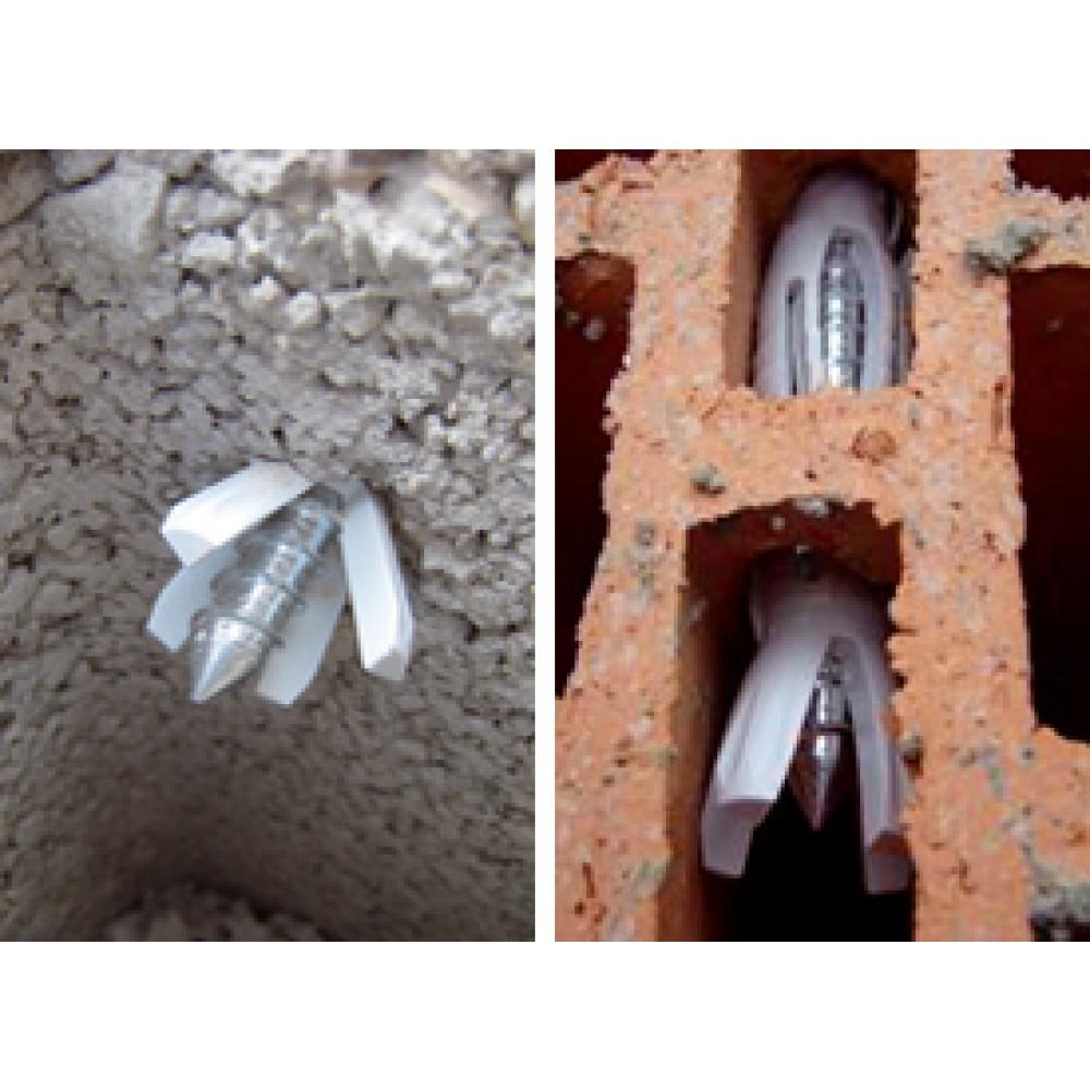 50 chevilles spit prolong en nylon grande longueur avec - Cheville parpaing creux ...