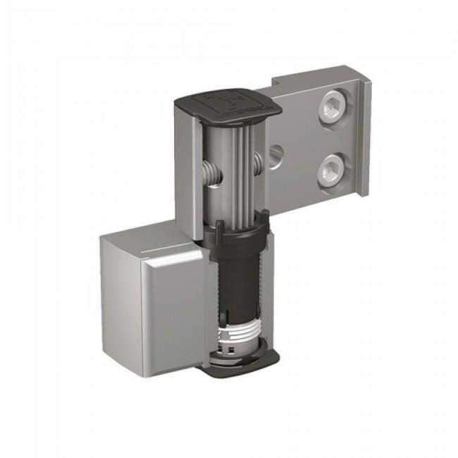 Paumelle pour portes métalliques - 2 lames - réglable - 60AT HAHN