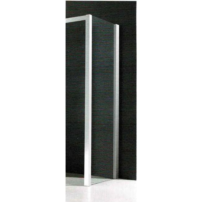 Paroi fixe - 80 cm - Profilé blanc - réversible & vitrage transparent LEDA