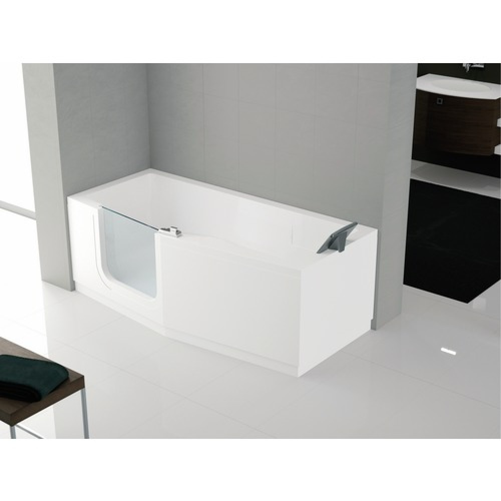 baignoire porte 170 x 80 cm version gauche standard iris novellini bricozor. Black Bedroom Furniture Sets. Home Design Ideas