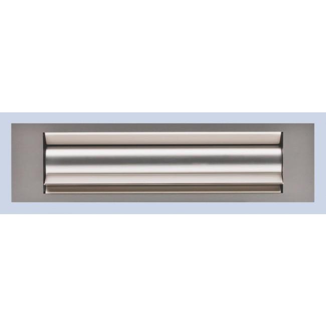 Entrée de boite aux lettres isolante - aluminium anodisé argent GOETTGENS SA