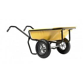 Brouette 2 roues gonflées - contenance 160 litres - Expert Twin HAEMMERLIN