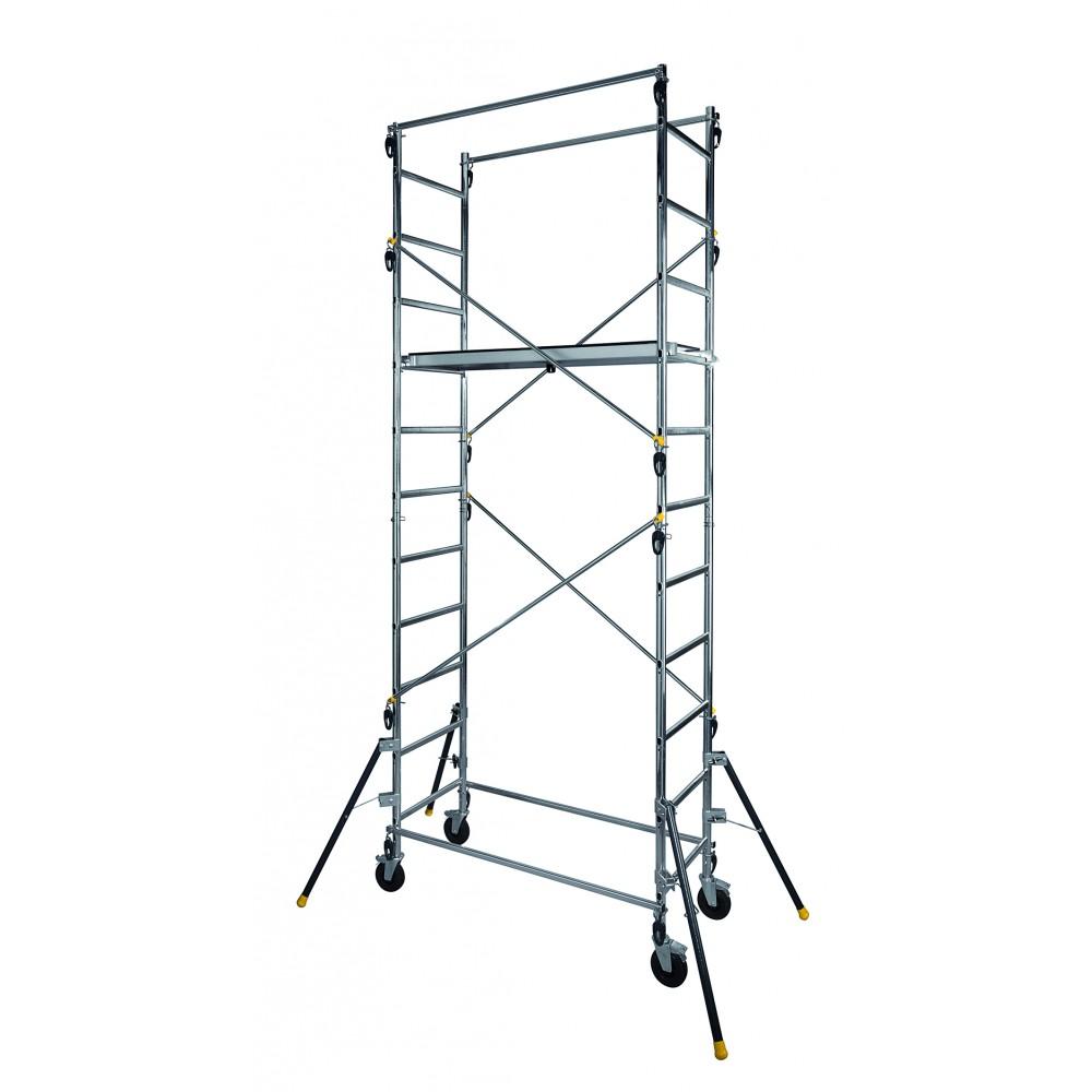 echafaudage roulant aluminium 4 70 m quad up centaure bricozor. Black Bedroom Furniture Sets. Home Design Ideas