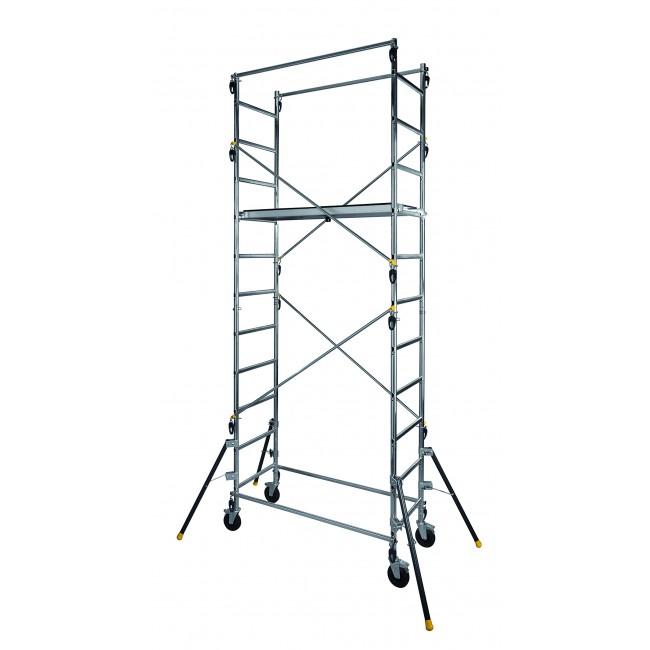 Echafaudage roulant aluminium 4,70 m - Quad Up CENTAURE
