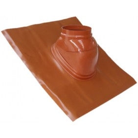 Solin plomb brun orangé pour chaudière à ventouse TEN