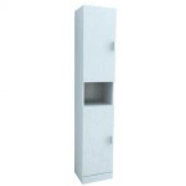 Colonne de rangement blanche - 30 x 35 x 182 cm - Eco AURLANE