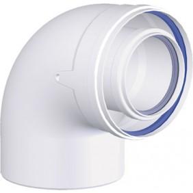 Coude à 87° PPs/Galva pour appareil à condensation TEN