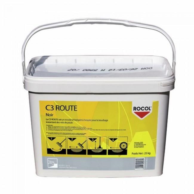 Enrobé de rebouchage de route à froid C3 - Seau 25 kg ROCOL