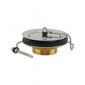 Bonde en laiton - à bouchon - pour évier gres - 60mm VALENTIN