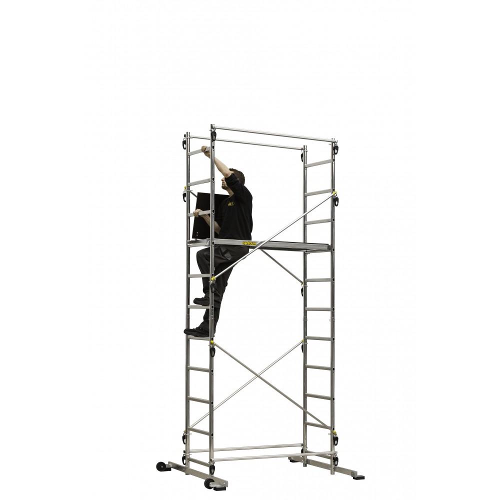echafaudage aluminium hauteur de travail 4 55 m tek 39 up bricozor. Black Bedroom Furniture Sets. Home Design Ideas