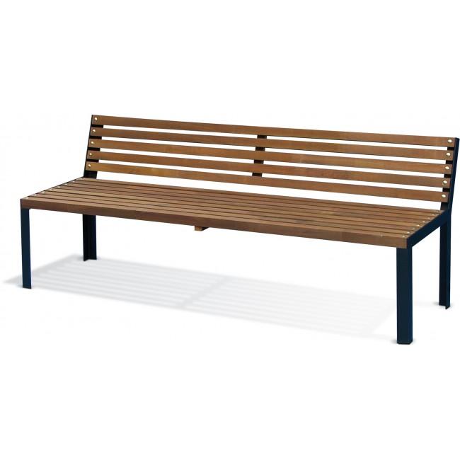 Banc de jardin en bois - ossature métal - longueur 190 cm - Selekt JARDIPOLYS