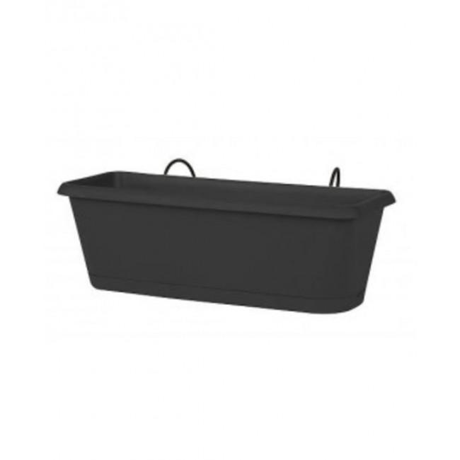 Jardinière gris anthracite + support invisible - 9,5 litres - Chorus 11455 EDA PLASTIQUES