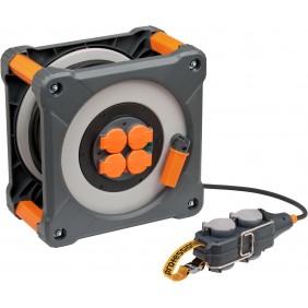 Enrouleur de câble multiprises Cube avec Powerblock BRENNENSTUHL