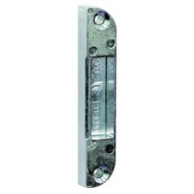 Gâche de pêne 1/2 tour pour crémone de porte fenêtre bois - têtière 16 mm FERCO