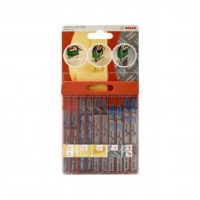 Coffret 10 lames de scie sauteuse - bois métal aluminium - 2609258746 BOSCH