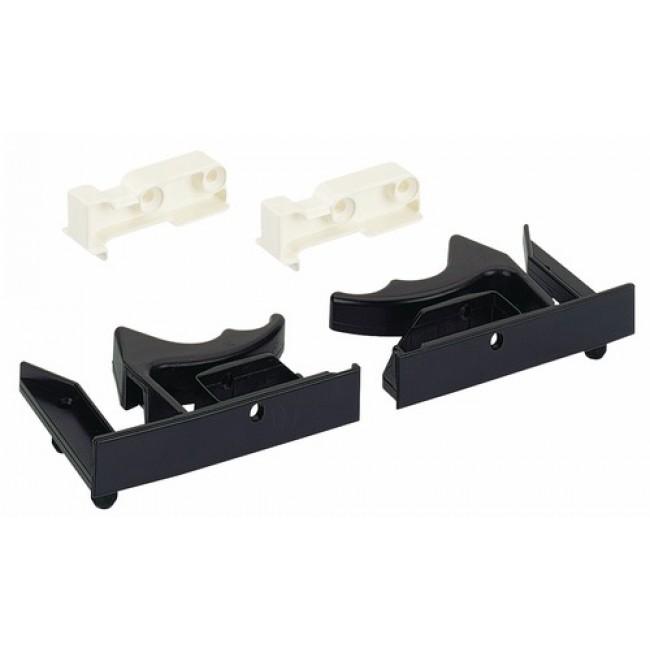 Kit clips coulisse Quadro V6 ou Quadro 30 pour tiroir à fond affleurant HETTICH