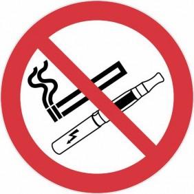 Disque de réglementation anti-tabac - défense de fumer et de vapoter NOVAP
