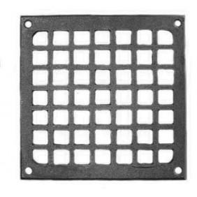 Grille d'aération en fonte - carré - 150 x 150 mm TORBEL