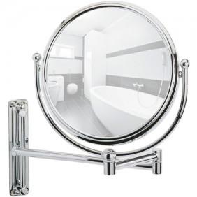 Miroir grossissant x5 - Deluxe - support mural articulé WENKO