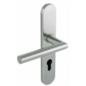 Poignées de porte droites sur plaques - Linox 493 VACHETTE